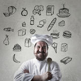 Cook with his dreemfoods Stock Photos