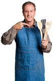 Cook and his tools Stock Image
