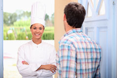 Cook at home Royalty Free Stock Photos