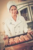 Cook with homemade baked goods Stock Photos