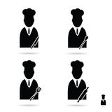 Cook icon set vector Stock Images