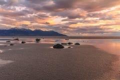 Cook Inlet Alaska Sunset. A beautiful sunset at low tide along cook inlet Alaska Royalty Free Stock Photo