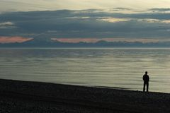Cook Inlet beach sunset with a Stock Images