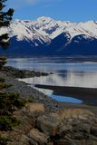 Cook inlet, looking south from Anchorage Alaska on the Kenai Peninsula Stock Photo