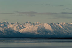 Cook Inlet Mountains Royalty Free Stock Photos