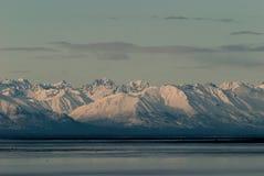 Cook Inlet Mountains. The Cook Inlet mountains durning sun set Royalty Free Stock Photos