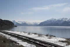 Cook Inlet. A picture of Cook Inlet in the spring Royalty Free Stock Photo
