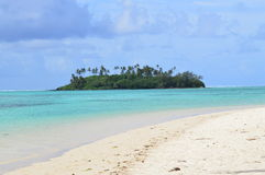 A Tropical Island. A small island off Muri Beach on Rarotonga Stock Images