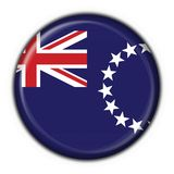 Cook island button flag round shape Royalty Free Stock Images