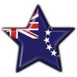 Cook island button flag star shape Stock Photo