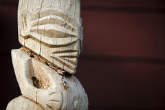 Cook Islands carving (Tangaroa) Royalty Free Stock Image