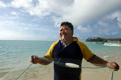 Cook Islands fisherman fishing Stock Images