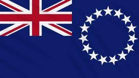 Cook Islands flag waving cloth background, loop. Cook Islands flag waving cloth, ideal for background, loop stock video