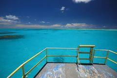 Cook islands Lagoon from Tour boat Royalty Free Stock Photography