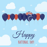 Cook Islands National Day Flat Patriotic Poster. Stock Photography
