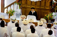 Cook Islands people pray at CICC church Stock Photography