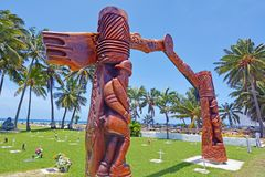 Cook Islands RSA memorial carved wooden gateway Rarotonga Cook I Royalty Free Stock Image