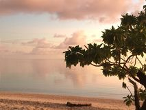 Cook Islands Sunset royalty free stock photo