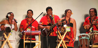 Cook Islands traditional music and dances Stock Photos