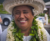 Cook Islands woman Stock Photos