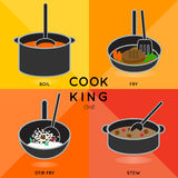 COOK KING ONE Royalty Free Stock Images