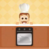 Cook in the kitchen Royalty Free Stock Images