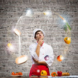 Cook at kitchen Royalty Free Stock Photography
