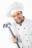 Cook with ladle Stock Photo
