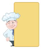 Cook looks out the poster Royalty Free Stock Photography