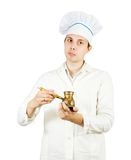 Cook man  with  cezve Stock Image