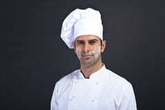 Cook men with flour Stock Images