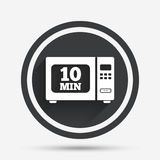 Cook in microwave oven sign icon. Electric stove. Stock Image