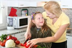 Cook with mom Royalty Free Stock Photography