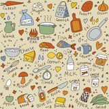 Cook objects color seamless pattern Stock Photography