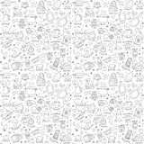 Cook objects doodles seamless pattern Stock Photo