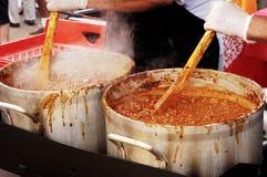 Cook-off 1 van de Spaanse peper Stock Afbeelding