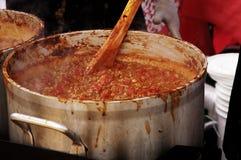 Cook-off 2 van de Spaanse peper Stock Foto