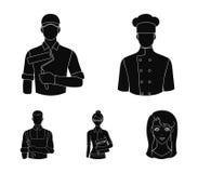 Cook, painter, teacher, locksmith mechanic.Profession set collection icons in black style vector symbol stock. Illustration Stock Photos