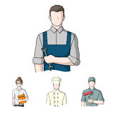 Cook, painter, teacher, locksmith mechanic.Profession set collection icons in cartoon style vector symbol stock Royalty Free Stock Images