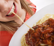 Cook with pasta Royalty Free Stock Image