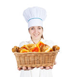 Cook with pastry Royalty Free Stock Photos