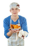 Cook with the pastry Stock Images