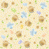 Cook pattern. Colored illustration. EPS 10.0. RGB. Illustration can be used as template for cafe, restaurants, food bar. Also can be use as template for menu Stock Images