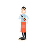 Cook people vector illustration in flat style stock illustration