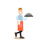 Cook people vector illustration in flat style royalty free illustration