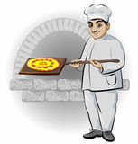 Cook with pizza Royalty Free Stock Photos