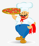 Cook pizza Stock Photos