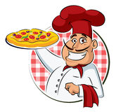 Cook Pizza. Royalty Free Stock Photos