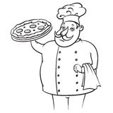 Cook Pizza Royalty Free Stock Photography