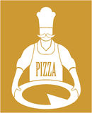 Cook Pizza Vector Stock Photo